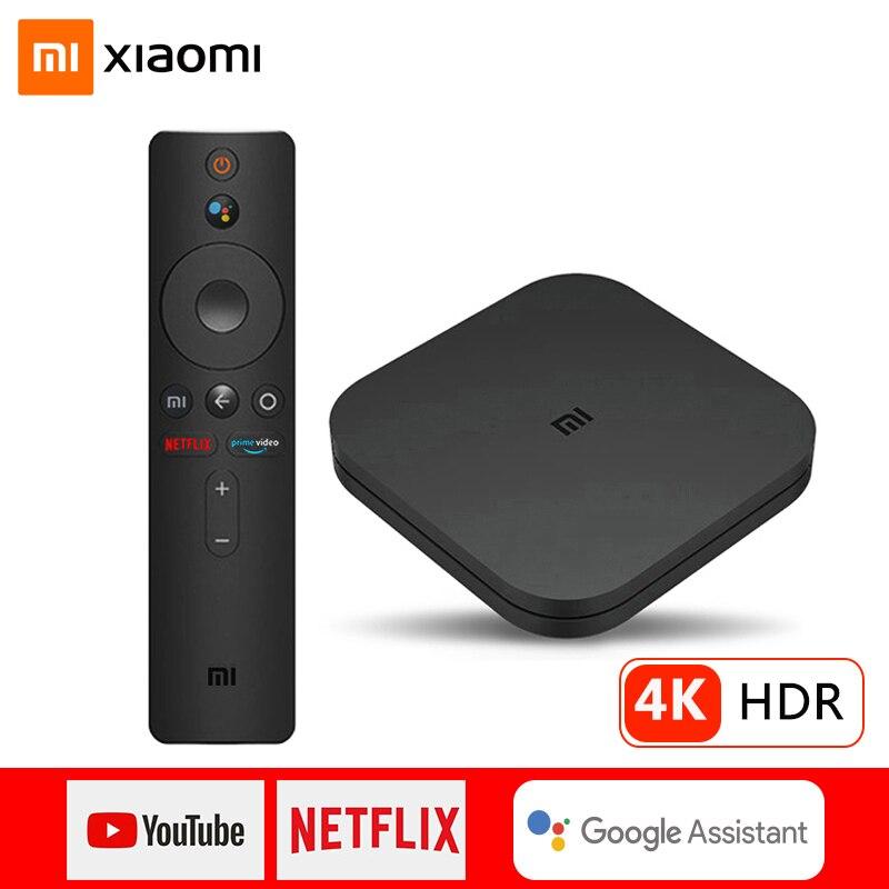 Global Version Xiaomi Mi TV Box S 4K Ultra HD Android 9.0 HDR 2G 8G WiFi Google Cast Netflix Smart TV Mi Box 4 Media Player